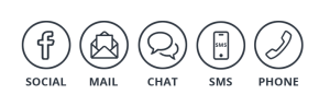 Multichannel woveon social sms email chat phone