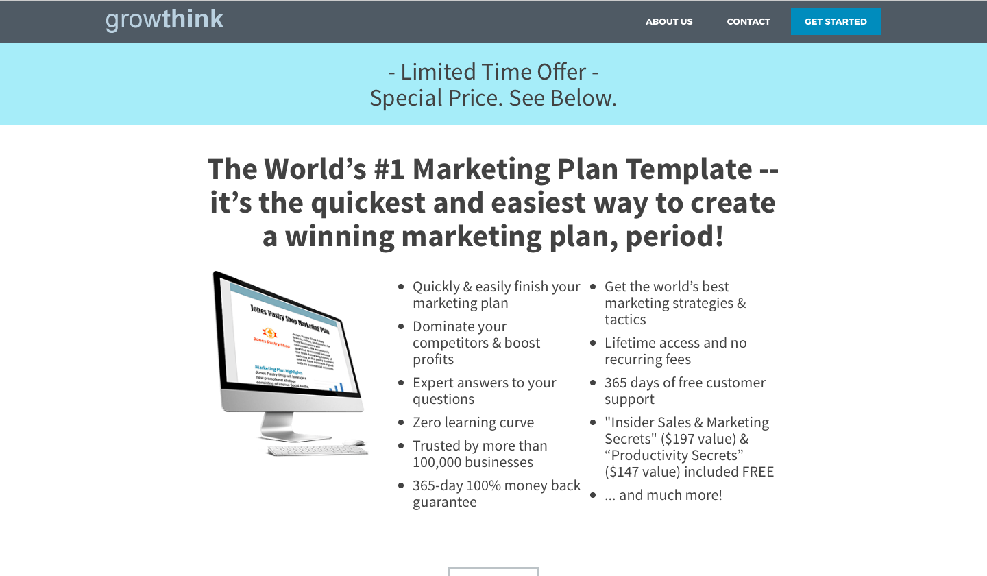 cmo-marketing strategy-woveon-Growthink Marketing Plan Templates