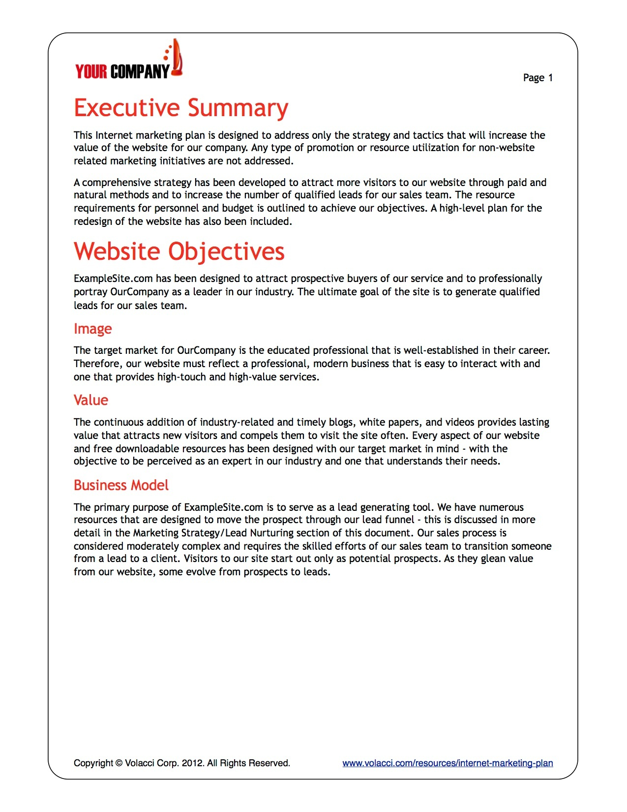 Cmo Marketing Strategy Woveon Internet Plan Templates