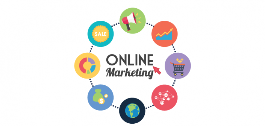 online marketing diagram