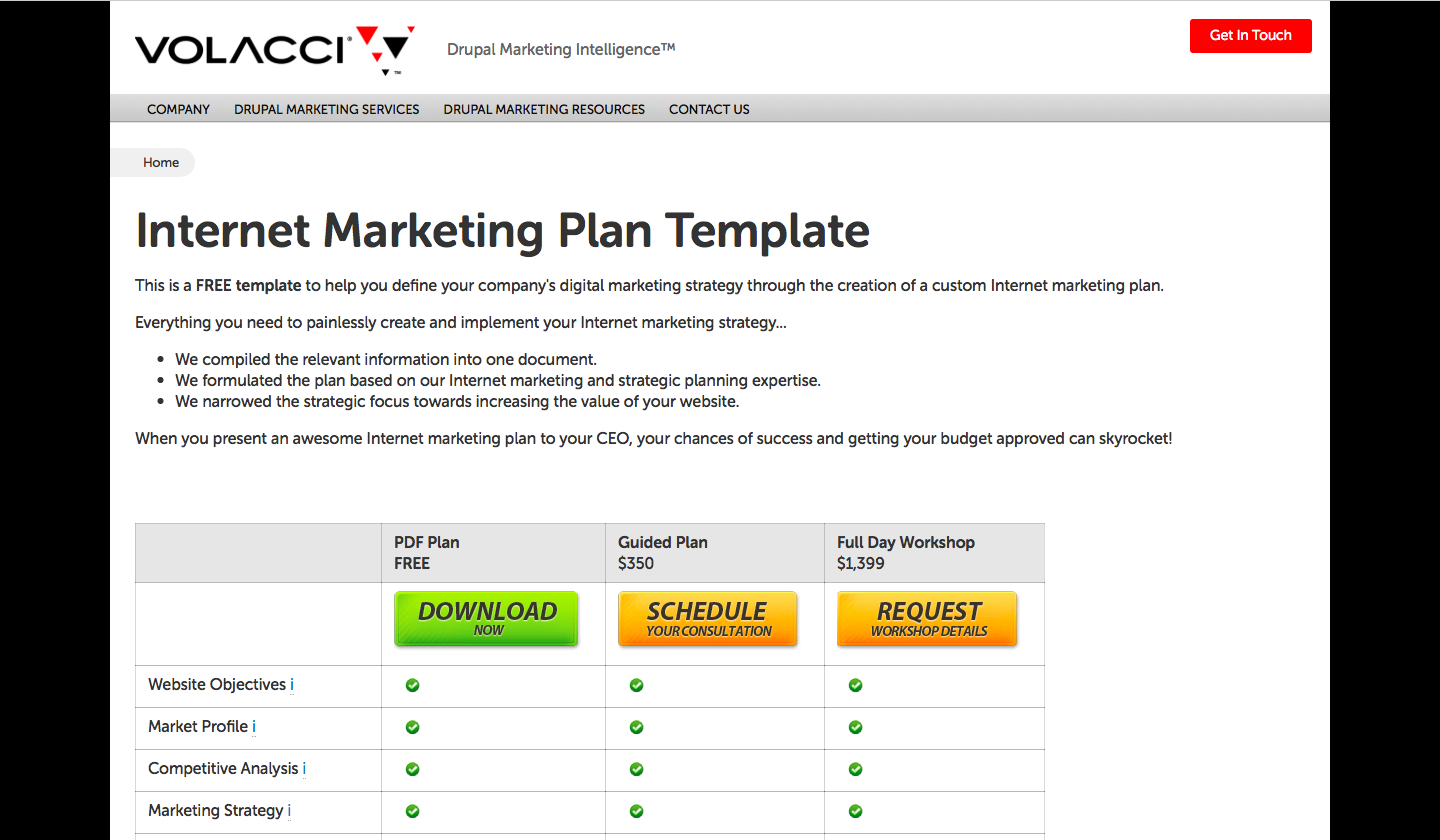 Volacci Internet Marketing Plan Templates-cmo-marketing strategy-woveon