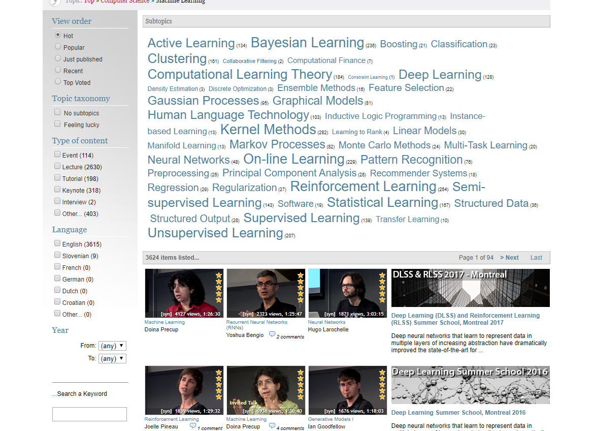 beginner machine learning course videolectures