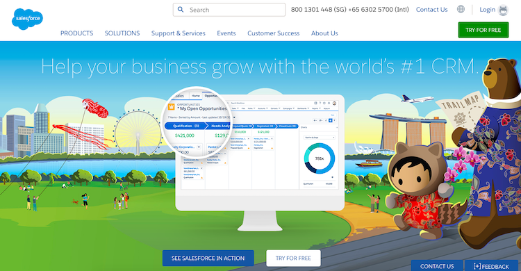 salesforce customer relationship management software