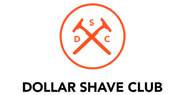 dollar shave club brand logo - company with incredible customer service team