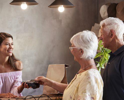 Senior Customer Cashless Payment