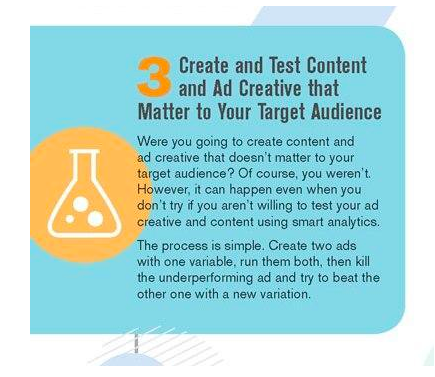 content creation and ad creative infographic