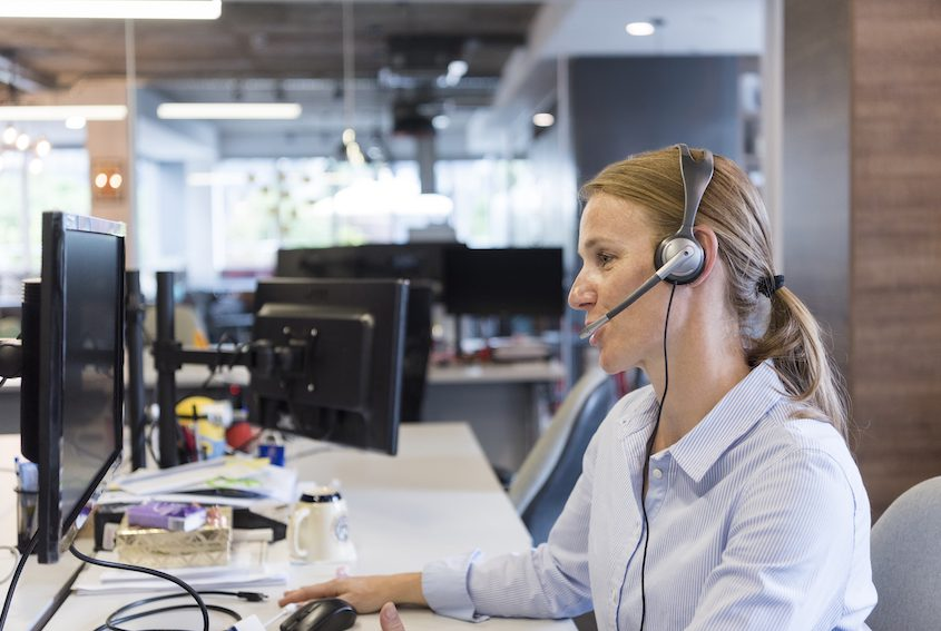 enhanced customer support - female support phone operator
