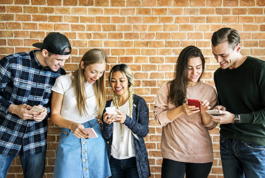 learn about your target audience friends using smartphones