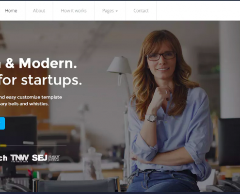 startup business website design template